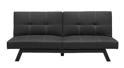 DHP Delaney 2078009 Faux Leather Futon, Black