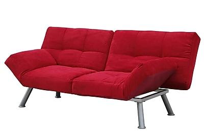 DHP Contempo 2001519 Micro Suede Futon, Red