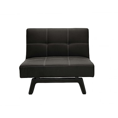 DHP Delaney Faux Leather Lounge Chair, Black (2072009)