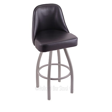 Holland Bar Stool Grizzly 25'' Swivel Bar Stool; Anodized Nickel