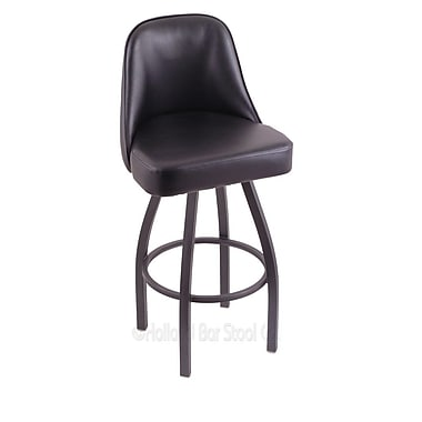 Holland Bar Stool Grizzly 36'' Swivel Bar Stool; Pewter