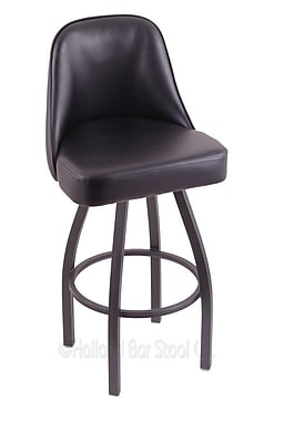 Holland Bar Stool Grizzly 30'' Swivel Bar Stool; Pewter