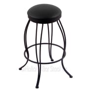 Holland Bar Stool Georgian 25'' Swivel Bar Stool; Black Vinyl