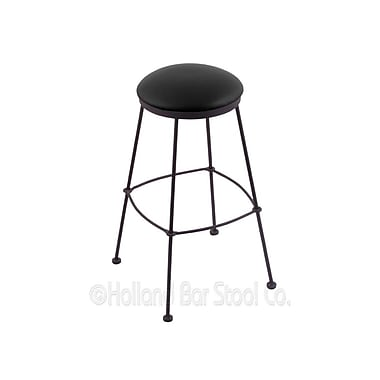 Holland Bar Stool 25'' Bar Stool; Black Vinyl
