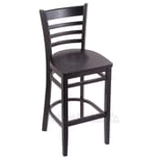Holland Bar Stool 25'' Bar Stool; Black
