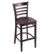 Holland Bar Stool 25'' Bar Stool; Dark Cherry
