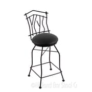 Holland Bar Stool Aspen 25'' Swivel Bar Stool; Black Vinyl