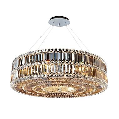 Allegri Luxor 3-Light Drum Pendant; 96'' H x 32'' W x 32'' D