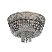 Allegri Romanov 7-Light Semi-Flush Mount; Firenze Fleet Gold