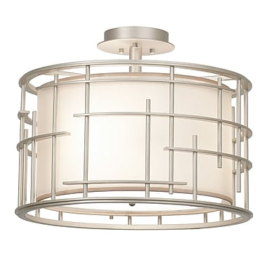 Kalco Atelier 3-Light Semi Flush Mount
