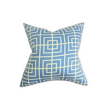 The Pillow Collection Helmut Geometric Cotton Throw Pillow; 18'' x 18''