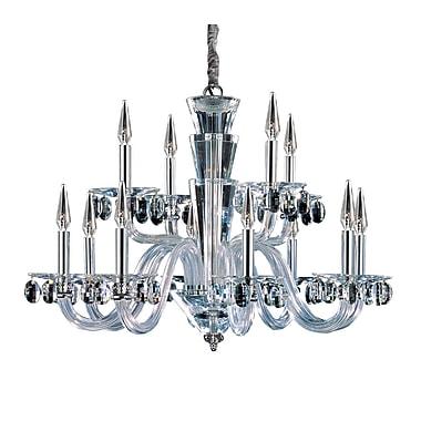 Allegri Fanshawe 12-Light Candle-Style Chandelier; Firenze Clear