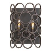 Kalco Ashbourne 2-Light ADA Wall Sconce; Heirloom Bronze