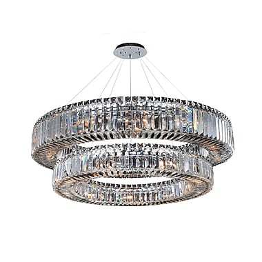 Allegri Rondelle 21-Light Crystal Pendant