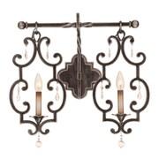 Kalco Montgomery 2-Light Vanity Light; Antique Copper