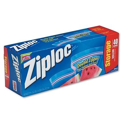 Ziploc One Gallon Storage Bags - 1 gal - 2.70 mil (69 Micron) Thickness - Clear - Plastic - 40/Box
