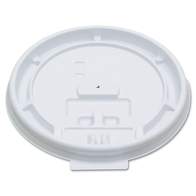 PACTIV- DOPACO ITEMS Hot Cup White Tear Tab Lids 8 Oz. 1522662