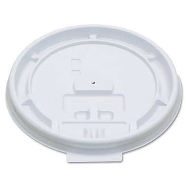PACTIV- DOPACO ITEMS Hot Cup White Tear Tab Lids 8 Oz.