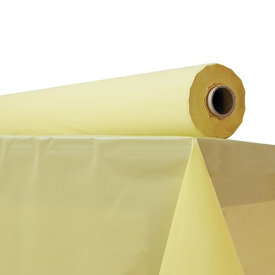 ATLANTIS PLASTICS Table Cover, Yellow
