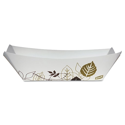 """DIXIE/FORT JAMES Kant Leek Paper Food Tray 8.38"""" x 5.81"""""""