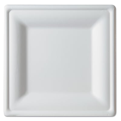 Eco-Products Sugarcane Square Disposable Plate, 250/CT (EP-P023)