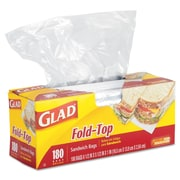 Glad® Food Storage Sandwich Fold Top Bags, 180/CT