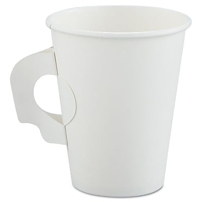 SOLO CUP COMPANY White Handled Hot Paper Cup, 8 Oz.