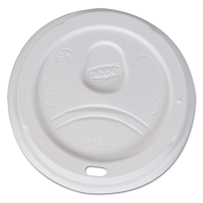 DIXIE/FORT JAMES White Dome Lid For 20 - 24 Oz. Cups