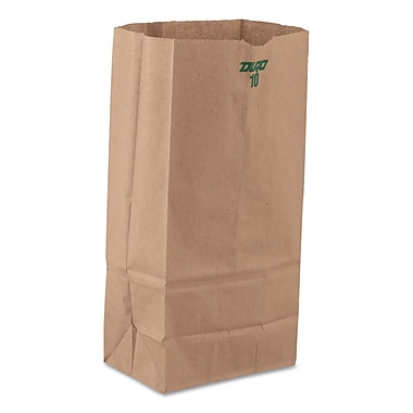 S & G PACKAGING Heavy Duty Natural Paper Grocery Bags, Standard