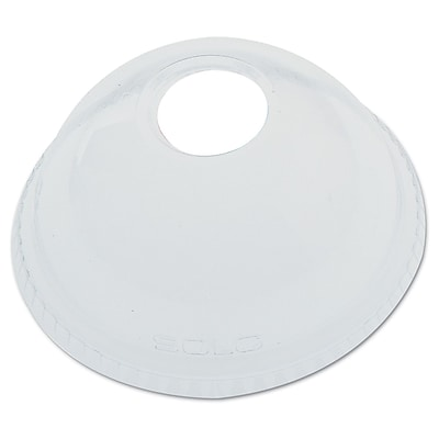 DART CONTAINER CORP Clear Dome Lid Only with Hole