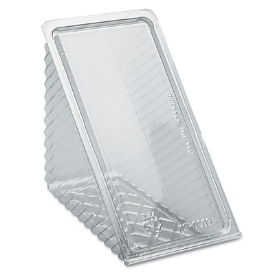 PACTIV REGIONAL MIX CNTR Plastic Hinged Lid Sandwich Wedge