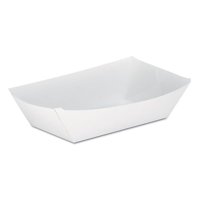 Dixie® Kant Leek® Polycoated Food Tray by GP PRO, 5 lb., White, 500/Carton (KL500W)