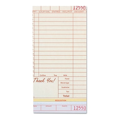 ROYAL PAPER PRODUCTS Guest Check Book Carbonless