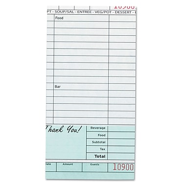 ROYAL PAPER PRODUCTS Royal Guest Check Book
