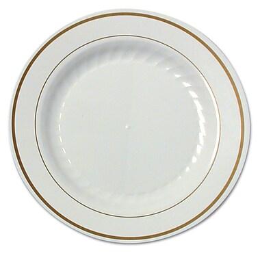 WNA AMERICAN PLS MASS WH Plastic Round Plate, 7.5