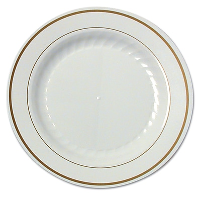 WNA AMERICAN PLS MASS WH Plastic Round Plate, 7.5