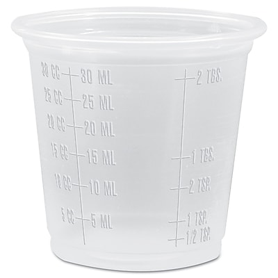 DART CONTAINER CORP Complements Graduated Plastic Portion & Medicine Cups 1524514
