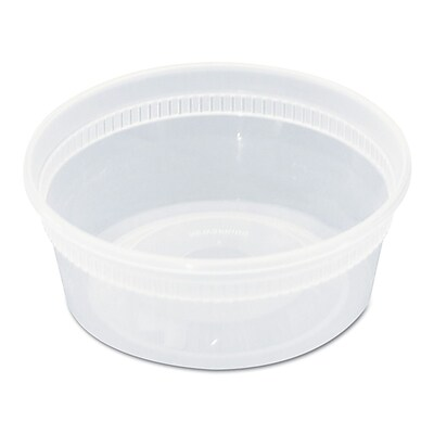 PACTIV REGIONAL MIX CNTR Plastic Container 8 Oz. Combo with Clear Lid