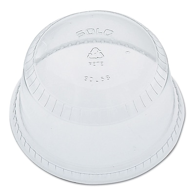 SOLO CUP COMPANY Flat-Top Dome Cup Lids 1522618