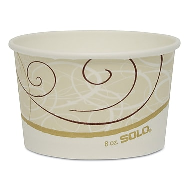 SOLO CUP COMPANY Single Poly Paper Food Containers