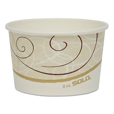 Solo Single Poly Paper Food Containers, 1,000/Carton