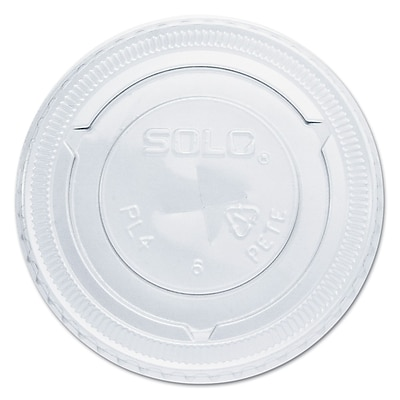 SOLO CUP COMPANY Clear Straw-Slot Cold Cup Lids 1524507