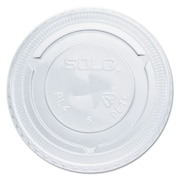 SOLO CUP COMPANY Clear Straw-Slot Cold Cup Lids