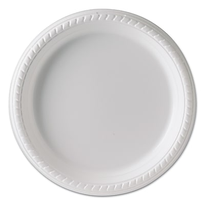 Solo Plastic Plates, 9 Inches, White, Round, 25/pack, 20 Packs/carton