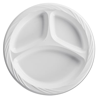 HUHTAMAKI FOODSERVICE Lightweight Compartment Plate