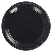 "HUHTAMAKI FOODSERVICE Plastic Round Plate 10.25"""