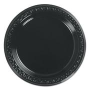 """HUHTAMAKI FOODSERVICE Black Plastic Plate 6"""""""
