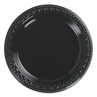 HUHTAMAKI FOODSERVICE Black Plastic Plate 6