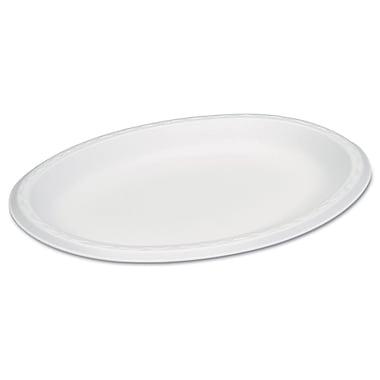GENPAK Dinnerware Foam Oval Platter