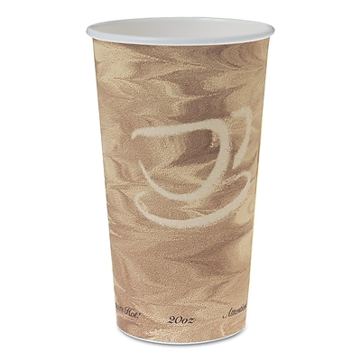 SOLO CUP COMPANY Single Sided Poly Paper Hot Cups, 20 Oz.